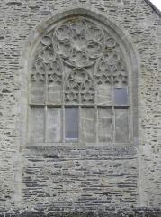 Ancienne abbaye des Jacobins - Grande baie au remplage rayonnant de la façade occidentale de l'église du couvent des Jacobins de Morlaix (29).