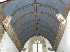 Eglise de Ploujean - Français:   Intérieur de l\'église Notre-Dame de Ploujean, commune de Morlaix (29). Voûtes de la chapelle méridionale.