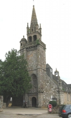 Eglise de Ploujean - Vue de l'ouest. Clocher 16e s. CMH 1914.