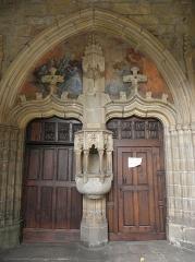 Eglise Saint-Mélaine - Français:   Portail du porche sud de l\'église Saint-Melaine de Morlaix (29).