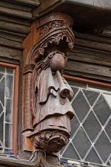 Maison dite à lanterne -  Détail de la maison à pondalez au 9 grande rue à Morlaix.
