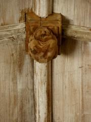Chapelle de Notre-Dame-de-la-Joie - Français:   Chapelle Notre-Dame-de-la-Joie de Penmarc\'h (29). Clef de voûte.