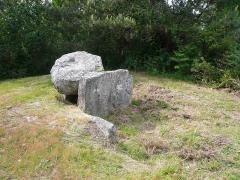 Deux dolmens de Kervadol et bande de terrain autour du dolmen - Français:   Premier dolmen de Kervadol, commune de Plobannalec-Lesconil, Finistère, Bretagne, France.