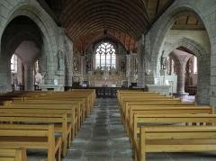 Chapelle Sainte-Marie - Intérieur de la chapelle Sainte-Marie-du-Ménez-Hom en Plomordien (29).