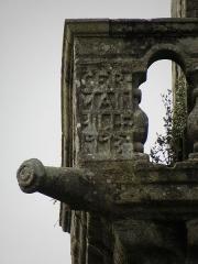 Chapelle Sainte-Marie - Canon et balustrade du clocher de la chapelle Sainte-Marie-du-Ménez-Hom en Plomodiern (29).