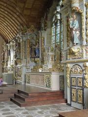 Chapelle Sainte-Marie - Enfilade de retables au chevet de la chapelle Sainte-Marie-du-Ménez-Hom en Plomordien (29).