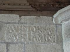 Chapelle Sainte-Marie - Inscription à l'intérieur de la chapelle Sainte-Marie-du-Ménez-Hom en Plomordien (29).