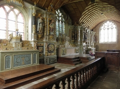 Chapelle Sainte-Marie - Transept de la chapelle Sainte-Marie-du-Ménez-Hom en Plomordien (29).