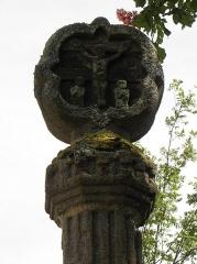 Croix hosannière - Français:   Détail de la croix hosannière de Plouezoc\'h (29).