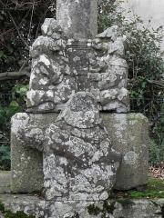 Croix de chemin en pierre de Lambader - Français:   Croix de chemin de Lambader en Plougourvest (29).