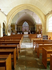 Eglise Saint-Demet - Français:   Église Saint-Démet de Plozévet (29). Vaisseau principal.