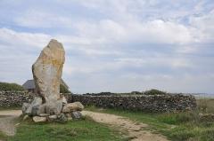 Menhir dit des Droits-de-l'Homme - English: Megalith, Brittany (France)