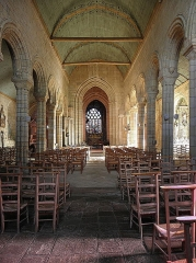 Eglise Notre-Dame de Roscudon - Nef de la collégiale Notre-Dame-de-Roscudon à Pont-Croix (29).