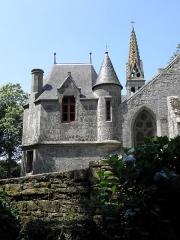 Chapelle Notre-Dame-de-Kérinec et abords - Chapelle Notre-Dame-de-Kérinec en Poullan-sur-Mer (29). La sacristie.