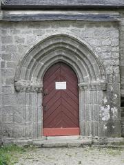 Chapelle Notre-Dame-de-Kérinec et abords - Seconde porte méridionale de la chapelle Notre-Dame-de-Kérinec en Poullan-sur-Mer (29).