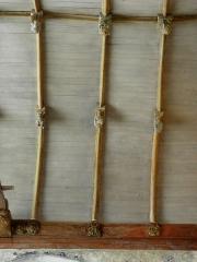 Chapelle de Saint-Tugen et abords - Charpente de la chapelle Saint-Tugen en Primelin (29).