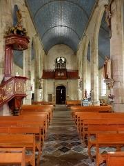Chapelle Notre-Dame de Kergoat - Français:   Intérieur de la chapelle Notre-Dame-de-Kergoat en Quéménéven (29). Vue vers le massif occidental.