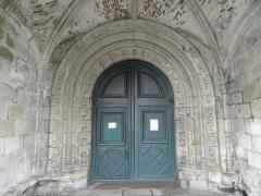 Ancien prieuré de Locmaria, ancienne caserne Emeriau - Français:   Église de Locmaria, Quimper (29). Portail occidental.