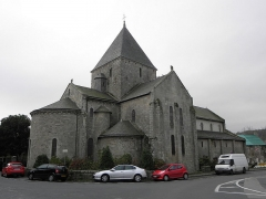 Ancien prieuré de Locmaria, ancienne caserne Emeriau - Français:   Église de Locmaria, Quimper (29). Chevet et flanc nord.