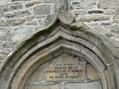 Maison dite de Marie Stuart - porte de la chapelle de St. Ninien dite de Marie Stuart