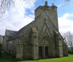 Chapelle du Moustoir - Français:   Chapelle du Moustoir en Kernével (commune de Rosporden), Finistère, Bretagne, France. Vue du Nord-Ouest