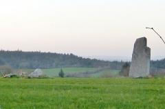 Alignement des menhirs de Trimen - Français:   L\'alignement des menhirs de Trimen en Saint-Goazec