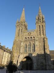 Ancienne cathédrale Saint-Paul-Aurélien - Façade occidentale de la cathédrale Saint-Paul-Aurélien de Saint-Pol-de-Léon (29).