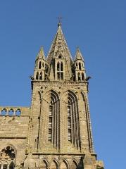 Ancienne cathédrale Saint-Paul-Aurélien - Français:   Tour sud de la façade occidentale de la cathédrale Saint-Paul-Aurélien de Saint-Pol-de-Léon (29).