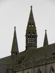 Ancienne cathédrale Saint-Paul-Aurélien - Campanile central à la croisée du transept de la cathédrale Saint-Paul-Aurélien de Saint-Paul de Léon (29).
