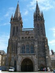 Ancienne cathédrale Saint-Paul-Aurélien - Façade de la cathédrale Saint-Paul-Aurélien, Saint-Pol-de-Léon, Haut Léon, Bretagne