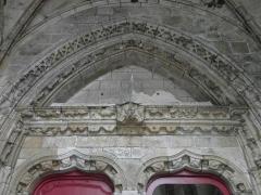 Eglise Notre-Dame du Creisker ou Kreisker - Français:   Linteau tympan et voussures du portail septentrional de la chapelle N.D. du Kreisker à Saint-Pol-de-Léon (29).