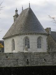 Château de Kerjean, actuellement Musée breton - Chevet de la chapelle du château de Kerjean en Saint-Vougay (29).