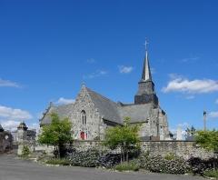 Eglise Saint-Léon - Église Saint-Léon de La Baussaine (35). Façade occidentale.