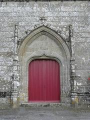 Eglise Notre-Dame - Extérieur de l'église Notre-Dame-de-Toutes-Joies de Broualan (35). Portail occidental.