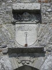 Ancienne collégiale, actuellement église Sainte-Marie-Madeleine - Cadran solaire de la collégiale Sainte-Madeleine de Champeaux (35).