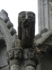 Ancienne cathédrale Saint-Samson - Gargouille d'un contrefort du grand porche de la cathédrale Saint-Samson de Dol-de-Bretagne (35).