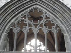 Ancienne cathédrale Saint-Samson - Remplages de l'arcade est du grand porche de la cathédrale Saint-Samson de Dol-de-Bretagne (35).