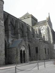 Ancienne cathédrale Saint-Samson - Flanc sud de la cathédrale Saint-Samson de Dol-de-Bretagne (35).