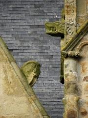 Eglise Saint-Melaine - Façade sud de l'église Saint-Melaine de Domalain (35). 4ème chapelle. Pignon. Rampant droit. Détail. Partie basse.