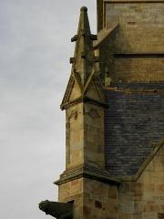 Eglise Saint-Melaine - Français:   Façade sud de l\'église Saint-Melaine de Domalain (35). 1er contrefort.
