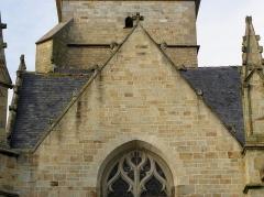 Eglise Saint-Melaine - Français:   Façade sud de l\'église Saint-Melaine de Domalain (35). 1ère chapelle. Pignon.