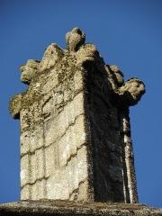 Eglise Saint-Sulpice - Travée gauche de la façade ouest de l'église Saint-Sulpice de Fougères (35) dite chapelle Saint-Domyn.Pinacle couronnant le contrefort gauche.