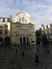 Théâtre municipal - Façade principale du Théâtre Victor Hugo à Fougères (35).