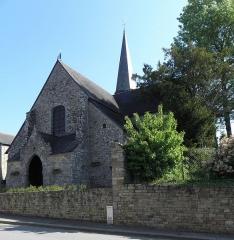 Eglise Saint-Exupère - Église Saint-Exupère de Gahard (35). Façade principale.