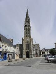Eglise Notre-Dame - Façade occidentale de la basilique Notre-Dame-de-l'Assomption de La Guerche-de-Bretagne (35).