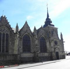 Eglise Saint-Patern - Extérieur de l'église Saint-Patern de Louvigné-de-Bais (35). Flanc nord.