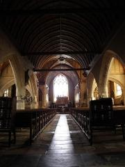 Eglise Saint-Patern - Nef centrale de l'église Saint-Patern à Louvigné-de-Bais (35).