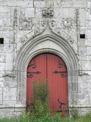 Chapelle Notre-Dame-de-Lannelou - 1er portail méridional de la chapelle Notre-Dame-de-Lannelou en Montauban-de-Bretagne (35).