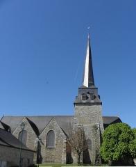 Eglise Saint-Crépin ou Saint-Crépinien - Façade sud de l'église Saint-Crépin et Saint-Crépinien de Rannée (35).