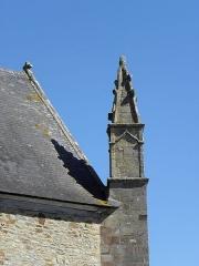 Eglise Saint-Crépin ou Saint-Crépinien - Français:   Pinacle sommant le contrefort d\'angle des façades ouest et sud de l\'église Saint-Crépin et Saint-Crépinien de Rannée (35).